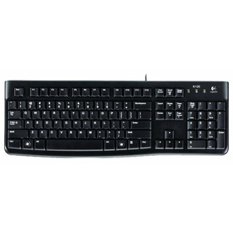 Logitech Keyboard K120 EER Black USB